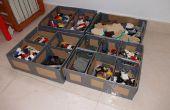 Cartón y ductape lego caja de almacenamiento - Caja para almacenar lego de cartón y precinto