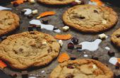 Masticable Cranberry y naranja Chocolate Chunk Cookies