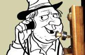 Teléfono Skype de Timey viejo DIY