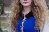 Inspiración medieval, vestido azul