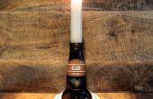 Sostenedor de vela de botella de cerveza
