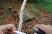 Construir un fuego en las condiciones de lluvia y húmedos