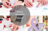 Cómo mezclar colores de pintura