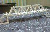 Prototipo de puente con palitos de helado