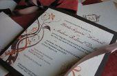 Elegantes invitaciones de boda color de otoño
