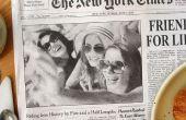 Crear un efecto de foto de periódico y titular personalizado en Photoshop!