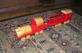 Construir un tren de juguete a lucha por lo que es derecho