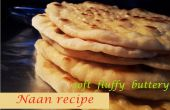 Receta del naan - Naan casero suave esponjosa mantequilla