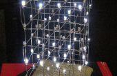 3D LED Charlieplex cubo de luces de árbol de Navidad