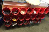 Estante del almacenaje de papelera de reciclarlos envases de plástico café