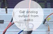 Para salida analógica de señal de Audio