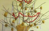 DIY Mini Xmas árbol de Palma de tallo