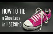 Cómo atar un cordón de zapato en 1 segundo. Muy rápido!