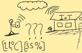 Supervisar el valor de temperatura y humedad de su sitio de Internet (Internet de las cosas concepto)