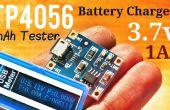 Cargador de batería + capacidad (mAh) probador de