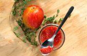 Tostada mermelada de ciruela y tomillo rojo