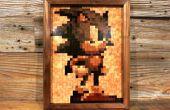 16-bit madera mosaico - Sonic!