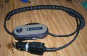 Convertir transmisor de FM de Belkin con energía de batería a la energía del coche