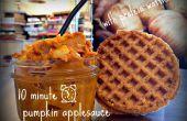 Puré de calabaza 10 minutos con waffles de proteína