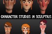 Creación de personaje Bustos en Sculptris