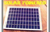 Cargador móvil accionado Solar DIY