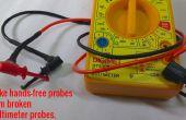 Cómo hacer manos libres las puntas de prueba de roto sondas multímetro