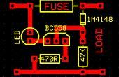 Fundido el fusible indicador de circuito con Led