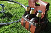 Cerveza y portador de vino de cuero