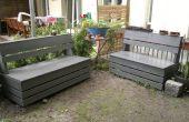 Excelente y fácil Banco de almacenamiento de jardín