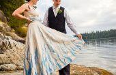Pintado a mano, reciclado del vestido de novia