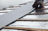 Retechados con barrera radiante y Metal corrugada sobre tejas de asfalto en 3 pasos!