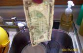 Cómo presionar billetes de dólar