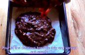 Brownies al chocolate chocolate Nutella malvaviscos