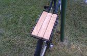 Acero y carga de madera portabicicletas