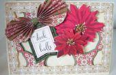 Cómo hacer una Navidad recortar Poinsettia tarjeta