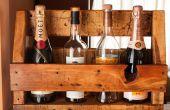 Estante de vino/whisky - plataforma madera