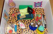 Caja de zapatos Dollhouse dormitorio de Littlest Pet Shop