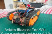 Arduino Bluetooth tanque con aplicación Android personalizada (V1.0)