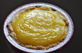 Torta de galleta de crema de limón azúcar