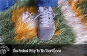 La forma más rápida para atar sus zapatos