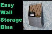 Pared fácil almacenamiento contenedores