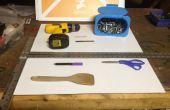 Almacenaje de la pared de Coroplast para herramientas y juguetes