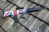 Pintar bandera británica en unidad de airsoft