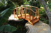 Puente de madera del marco de acero