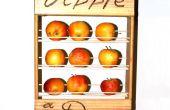 Salud estante de la fruta: Una manzana para el camino.