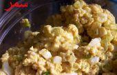 Al curry ensalada del huevo