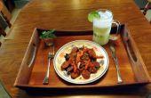 PACANAS AHUMADAS ANDOUILLE salchicha en salsa de CHIPOTLE ADOBO mostaza