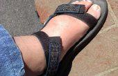 Arreglar sus sandalias de velcro para pies anchos