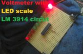 Voltímetro con escala de LED circuito LM 3914