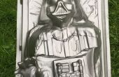 Darth Vader en la carbonita formación del vacío - Star Wars
